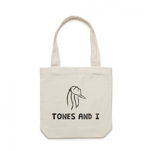 Logo Canvas Tote (White)