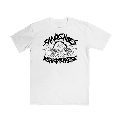 Sandshoes Boardriders Tee (White) // PREORDER