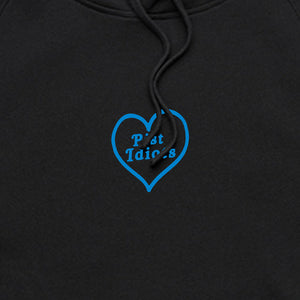 Embroidered Blue Logo Hoodie