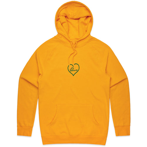 Embroidered Heart Hoodie (Yellow)