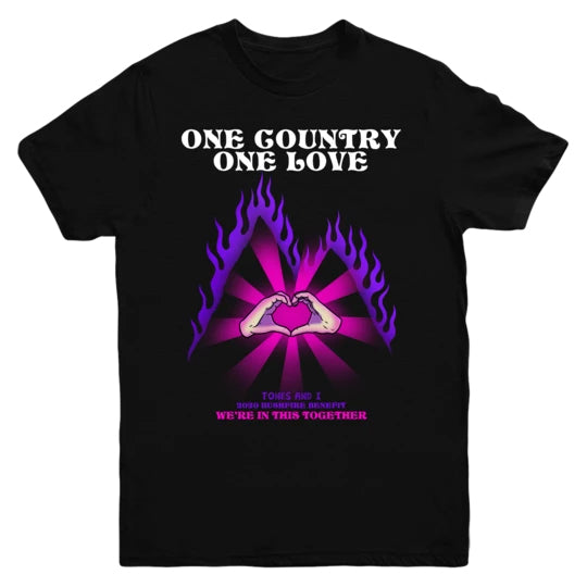 One Country One Love Tee (Black)