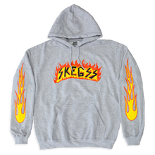 Load image into Gallery viewer, Grey Flame Hoodie