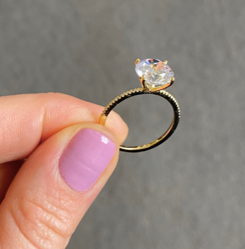 3.0ct GOLD COLOR SOLITAIRE RING