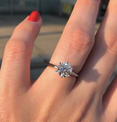 2.0 CARAT SILVER SOLITAIRE