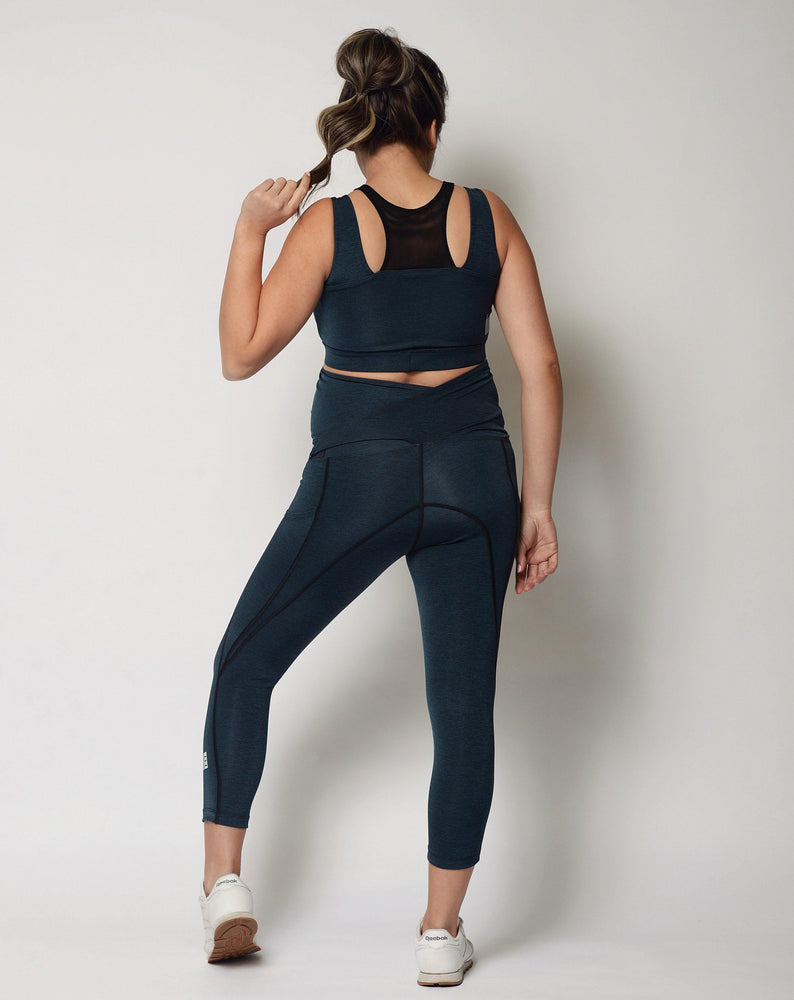 Chai Blue High Style Nursing Sports Bra