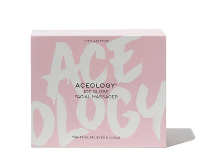 Aceology Pink Ice Globe Facial Massager Box