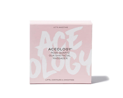 Aceology Rose quartz Gua Sha Facial Massager Box