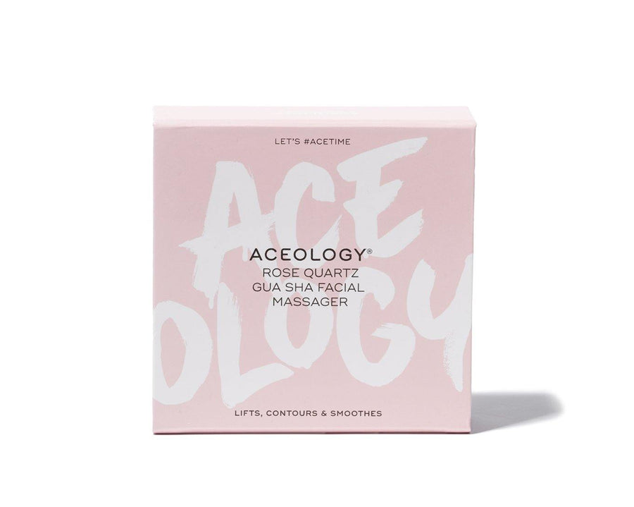Aceology Rose quartz Gua Sha Facial Massager