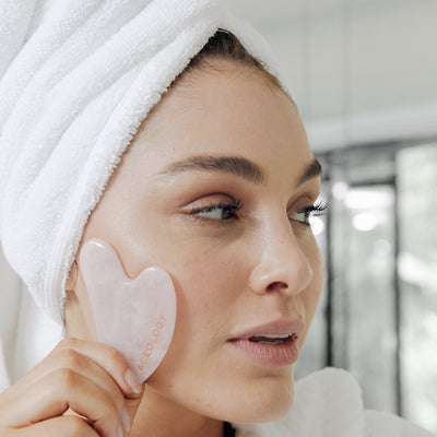 Rose Quartz Gua Sha Facial Massager