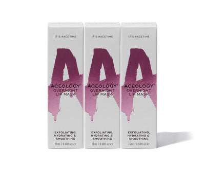 Aceology Overnight Lip Mask 3 Pack Box