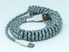 Nylon Braided Coiled USB C Cable (Sky)