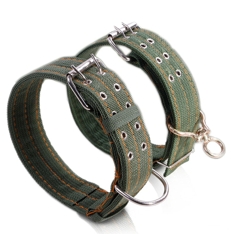 Nylon Canvas Large Army Dog Collar