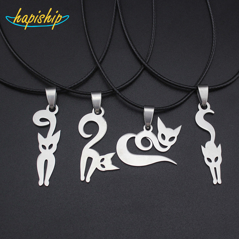 Women/Men's Stainless Steel  Cute Dog  Pendant Necklace