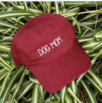 DOG MOM Embroidered Adjustable Golf Cap