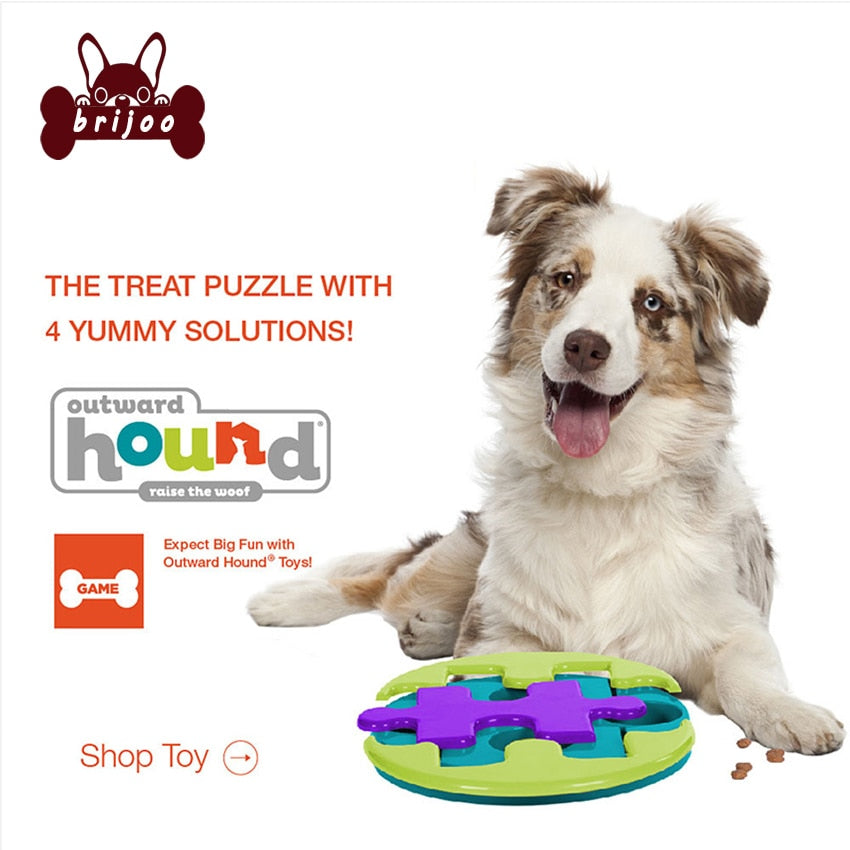 Pet Toy slider puzzle dog toy pet interactive Brick Treat toys supplies Food Dispensing Playing Training for Dog Cat Feeder Dish