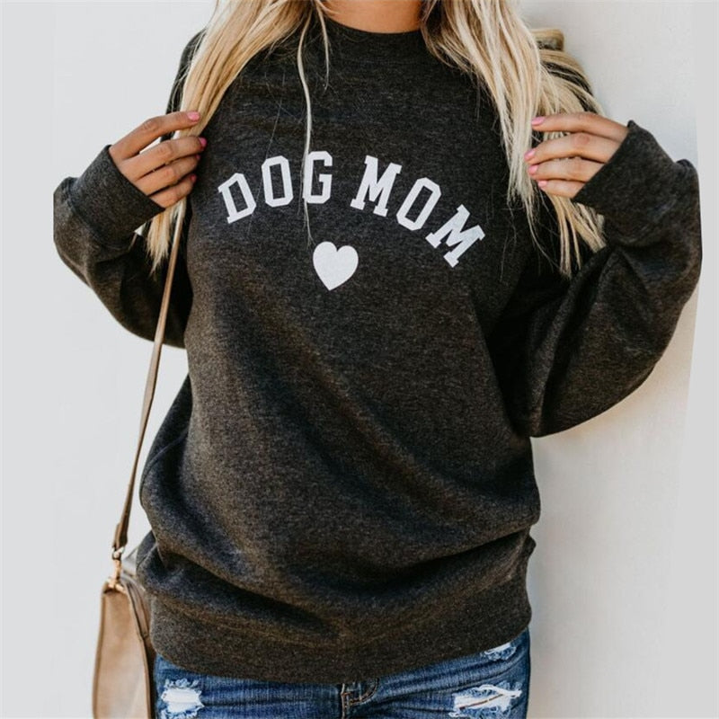 Dog Mom Women's Fashion Sweatshirt