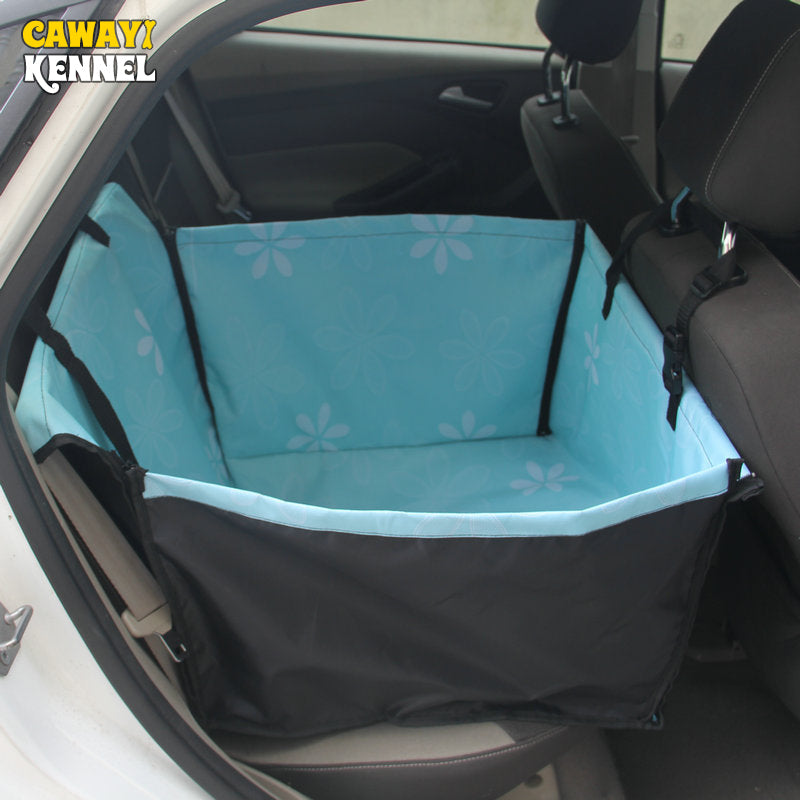 CAWAYI KENNEL Pet Carriers Dog Car Seat Cover Carrying for Dogs Cats Mat Blanket Rear Back Hammock Protector transportin perro