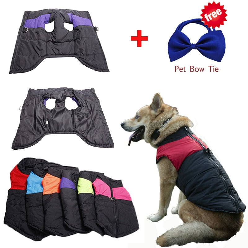 Waterproof Pet  Warm Winter Dog Clothes Dog Vest Down Jacket Clothing Coat  4 Colors S-5XL With Christmas Gift