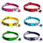 Pet Supplies Adjustable Nylon Cat  Dog Collars  Dog Training Outdoor Comfortable Dog Necklace For Pet Bell collar leash