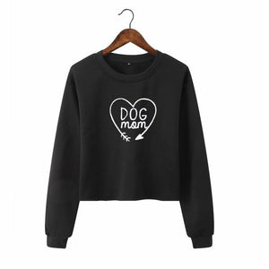 DOG MOM Long Sleeve Sweatshirt For Women