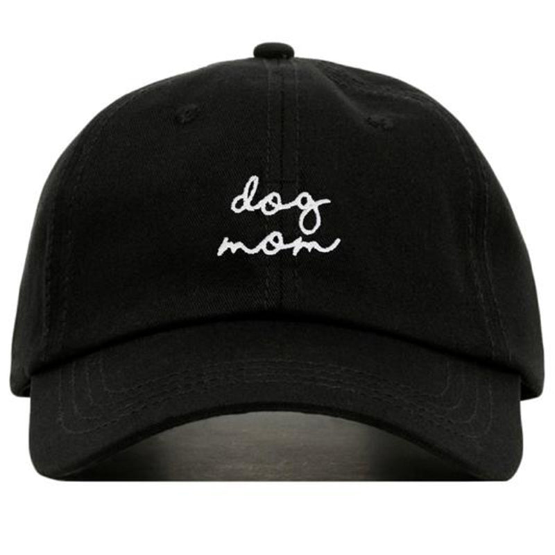 DOG MOM embroidery Baseball Hat