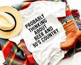Beer and 90s Country Music Shirt