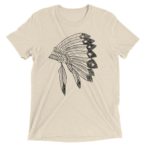 Chief Short Sleeve Tri-blend T-shirt | Tribal Shirt | Kansas CIty Chiefs | Comanche Shirt | Cleveland Indians | Atlanta Braves