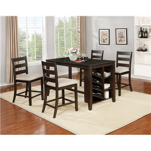 Twins Furniture 5 Pcs Counter Height