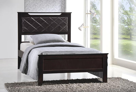 Twins Furniture Twin Bed Frame w/ Mattress