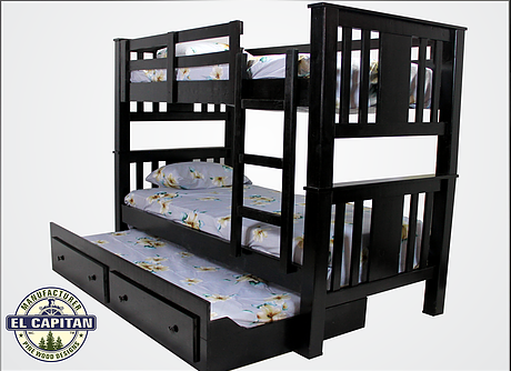 Twins Furniture Bunk Bed w/ Mattresses and Bunky Boards