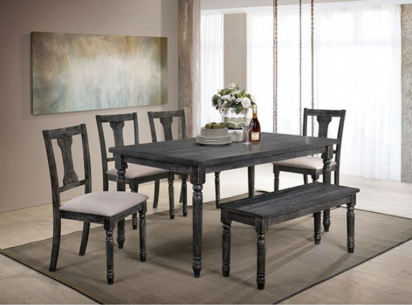 Twins Furniture 6 Piece Dining Set