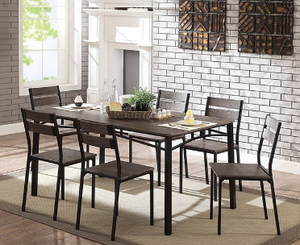 Twins Furniture 7 Pc Dining Set