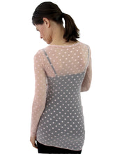 Load image into Gallery viewer, THE POLKA DOT MESH SHIRT - SCOOP NECK - LONG SLEEVE