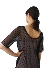 Load image into Gallery viewer, THE POLKA DOT MESH TEE DRESS - SCOOP NECK