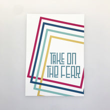 Load image into Gallery viewer, TAKE ON THE FEAR - Playful lines A4/A3 print
