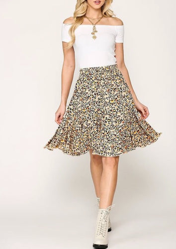 Twirly Leopard Skirt