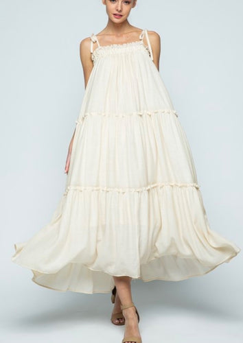 Ruffled Tiered Maxi