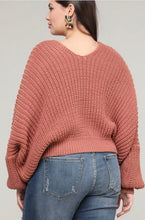 Load image into Gallery viewer, Draped Shoulder Sweater