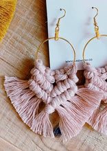 Load image into Gallery viewer, Macrame Hoop Earrings