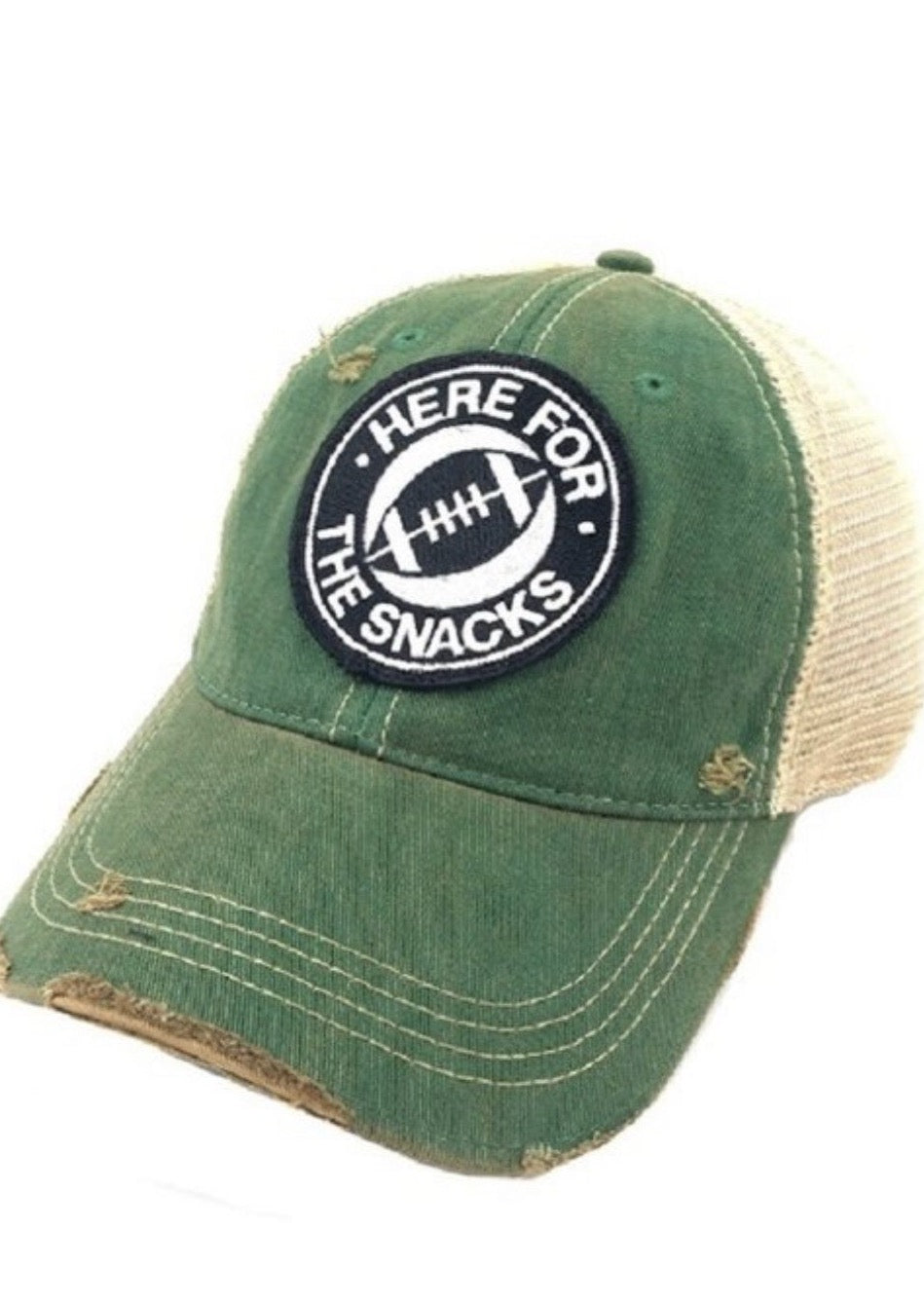 Here For The Snacks Football Hat