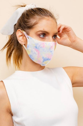 Cotton Candy Tie Dye Face Masks