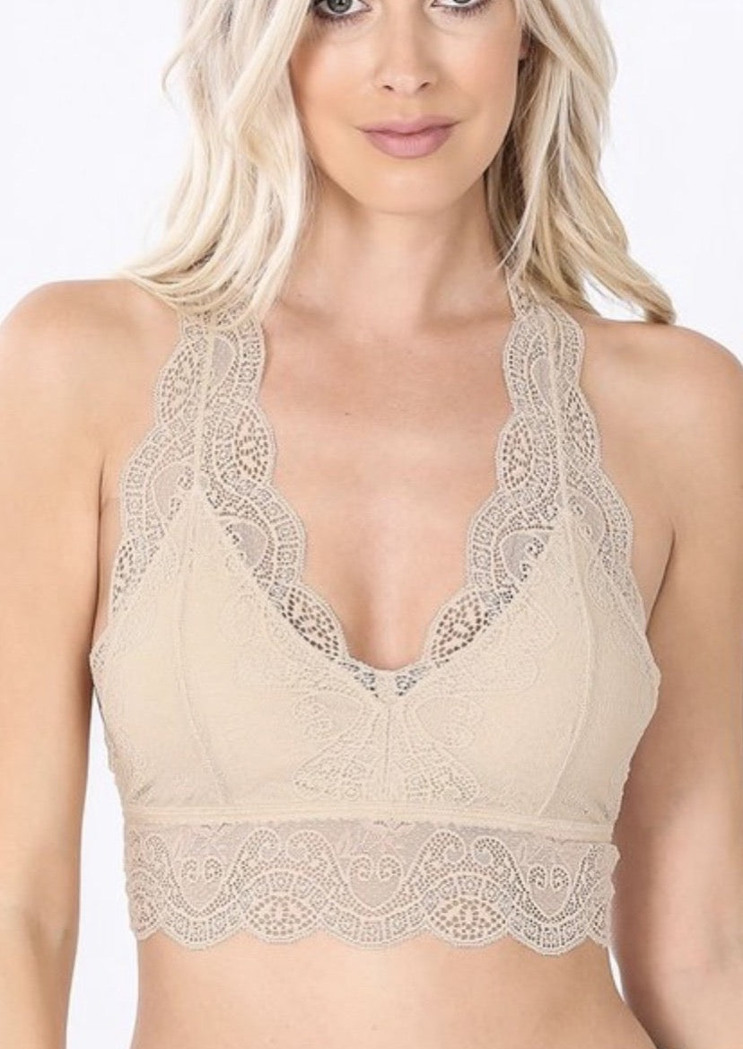 Hourglass Back Bralette
