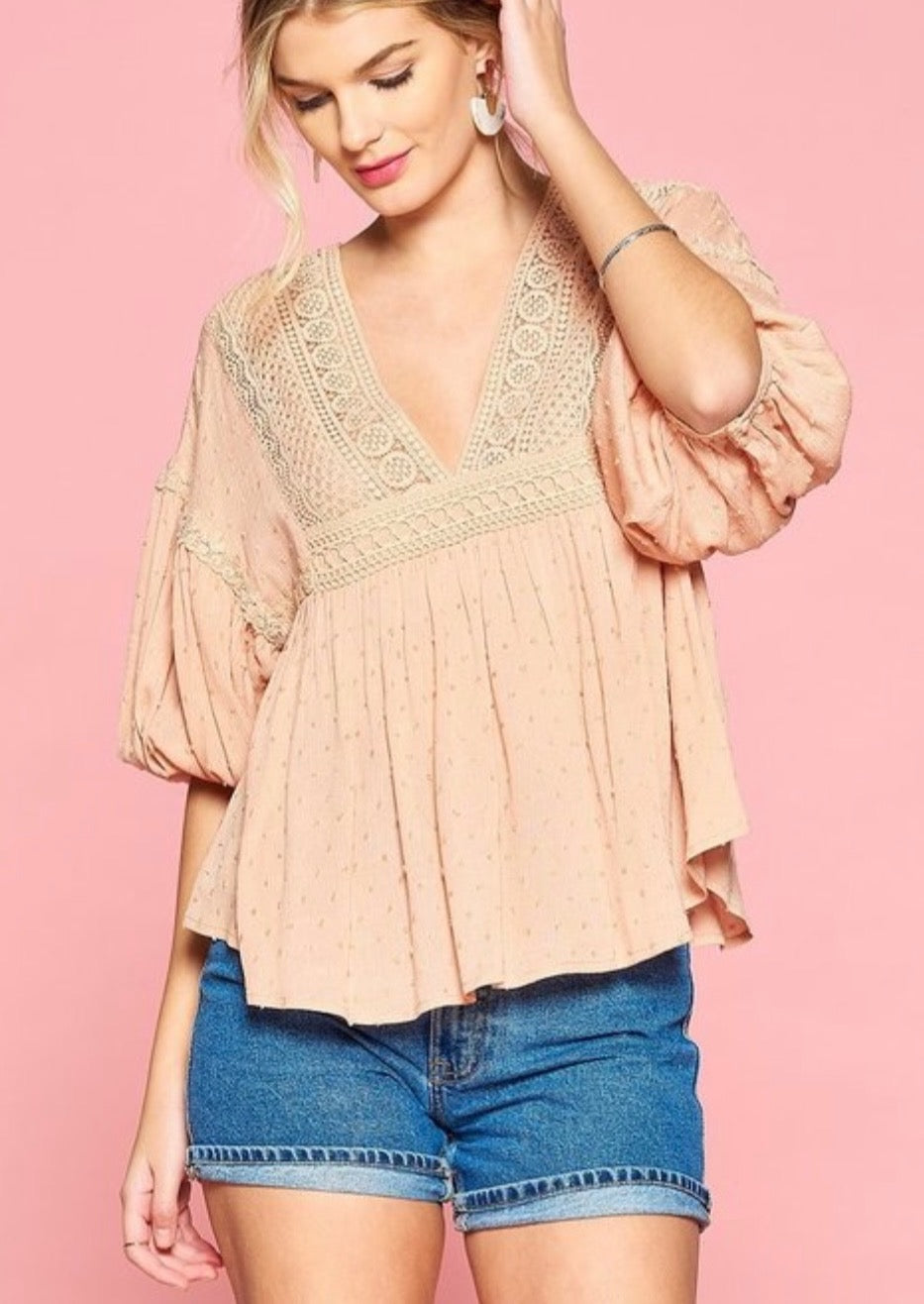 Puff Sleeved Babydoll Blouse