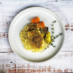 Pistachio Crusted Mahi Mahi with Cauliflower Rice (Paleo)