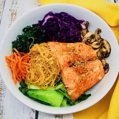 Salmon, Noodles and Veggies