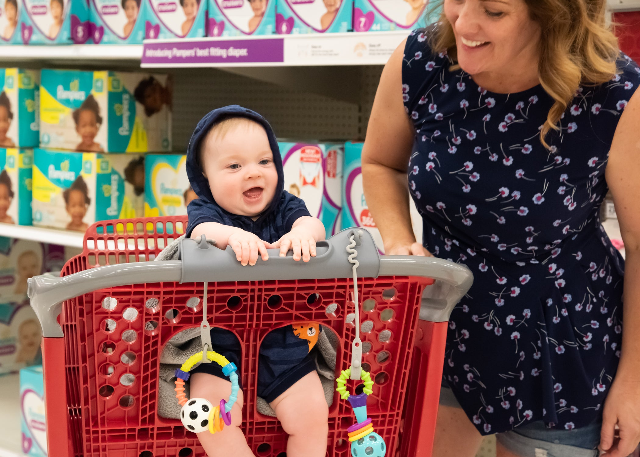 busy baby placemat on shopping cart