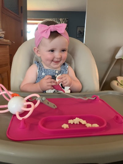 Baby Silicone Placemat          (2 Tethers Included)