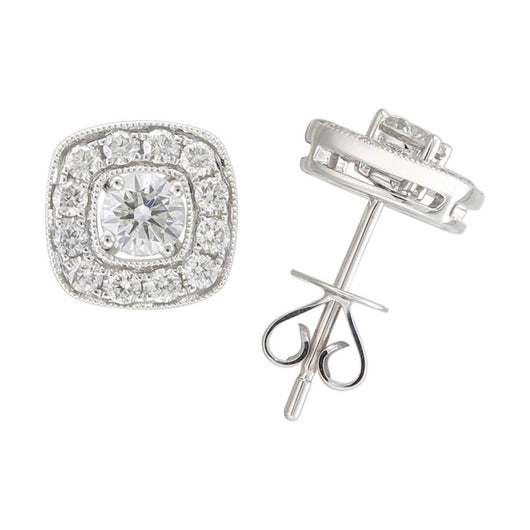 18k Audrey diamond studs