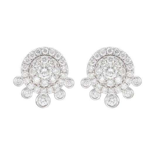 18k Lille diamond earrings