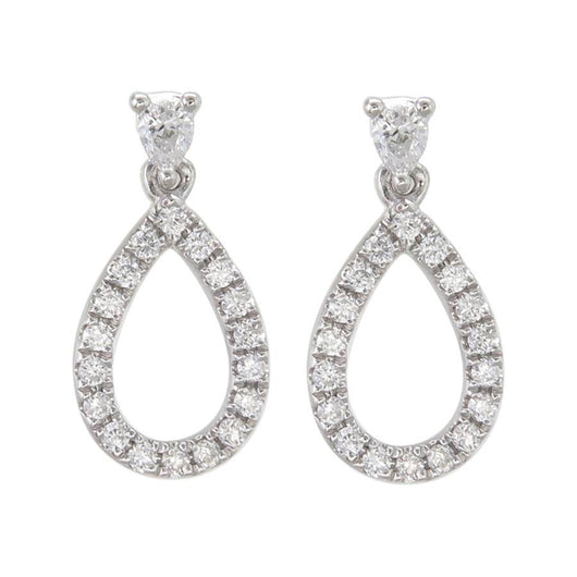 18k Elouera diamond drop earrings